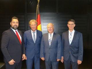 In Sachen Ortsumgehung Haslach waren die beiden neuen Bürgermeister von Haslach und Fischerbach in Berlin im Bundesverkehrsministerium: Philipp Saar, Norbert Barthle, Peter Weiß sowie Thomas Schneider.