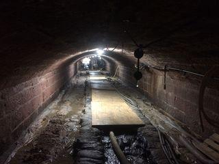 Ein Blick in die unterirdische Baustelle
