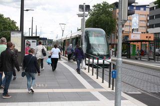 Wegen des französischen Nationalfeiertags fährt die Tram am Freitag, 14. Juli, nicht am Abend nichts ins Stadtzentrum.