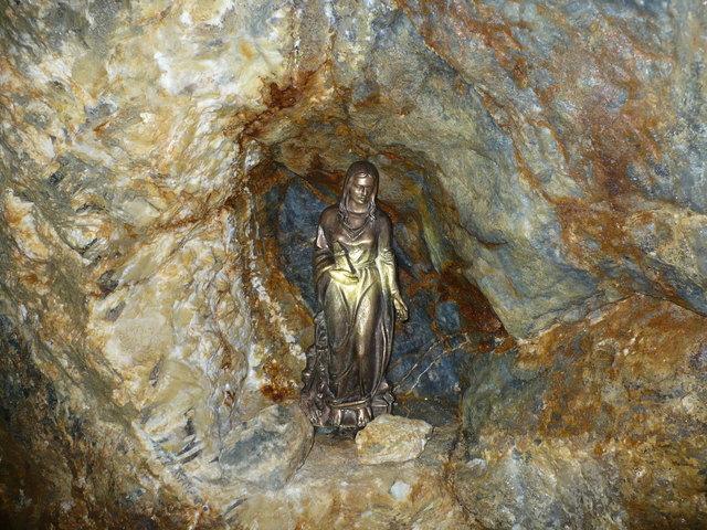Hier wacht die heilige Barbara, Schutzpatronin der Bergleute
