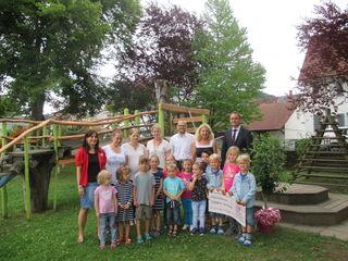 """Eine tolle Spende bekam bekam der Kindergarten """"Sternschnuppe""""."""