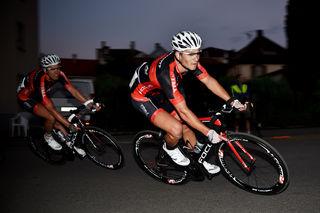 Pascal Husterer, hier vor Andreas Schreier, belegte beim Kriterium in Dahn den vierten Platz.