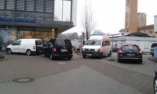 Oft zugeparkt: die Zufahrt für Rettungsfahrzeuge am Standort Ebertplatz des Ortenau-Klinikums in Offenburg