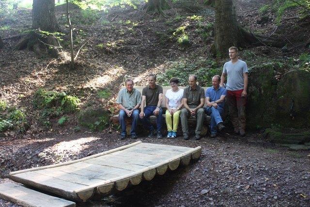 """Der """"Ölbrunnen"""" in Friesenheim, um den sich eine Sage rankt, wurde neu gestaltet."""