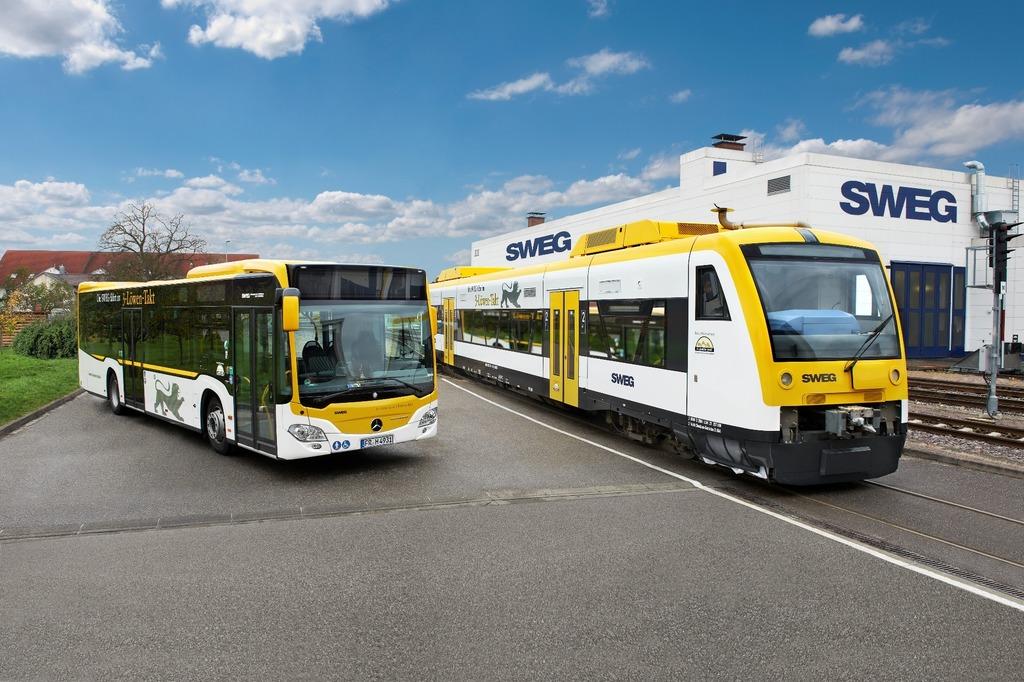 Als eines der großen Verkehrsunternehmen in Baden-Württemberg betreibt die SWEG zwischen Lörrach/Weil am Rhein und Bad Mergentheim Busverkehr im Stadt- und Überlandverkehr sowie Schienen-Personennahverkehr.