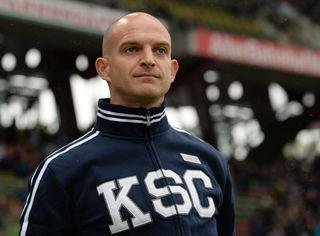 Konnte endlich jubeln: KSC-Trainer Marc-Patrick Meister.