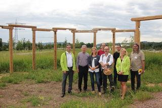 """Präsentation von """"Woodhenge"""" auf dem Landesgartenschau-Gelände, das in den kommenden Monaten noch fertiggestellt wird."""
