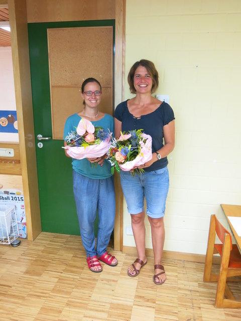 Die Sozialpädagoginnen Andrea Kappler (l.) und Silke Engster wurden jetzt verabschiedet.