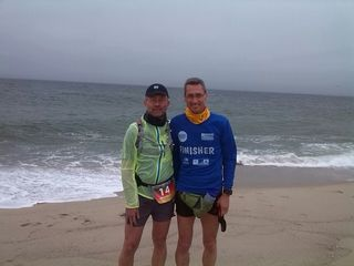 Andreas Amann und Matthias Becker beim Start