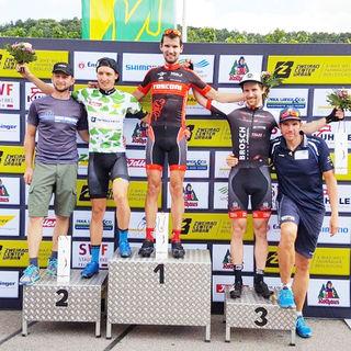 Marcel Fischer gewann das Rennen um den Rems-Murr-Pokal und steht einmal mehr auf dem obersten Treppchen.