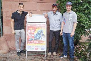 Max Dilger, Bernd Diener und David Pfeffer: die Clubfahrer des MSC Berghaupten und Teilnehmer bei der WM-Challenge in Berghaupten