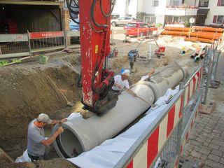 Bisher wurden in Münchweier 60 Meter Kanal- und Wasserleitungen verlegt.