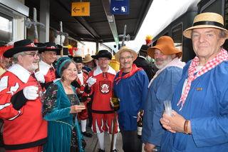 150 Jahre Schwarzwaldbahn Offenburg-Hausach feierten die Freunde aus Hausach und Arbois gemeinsam im Jahr 2016.