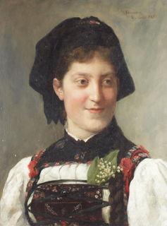 """""""Frau in Tracht"""" von Wilhelm Hasemann"""