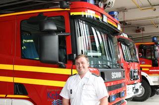 Der Kehler Feuerwehrkommandant Viktor Liehr