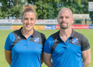 Co-Trainerin Mirella Junker und Coach Sascha Glass kehren heute an ihre alte Wirkungsstätte zurück.