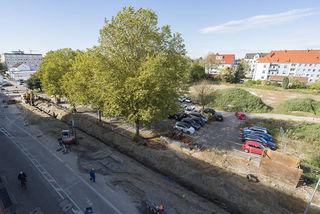 Keine Durchfahrt außer für Anwohner ist derzeit an der Maria-und-Georg-Dietrich-Straße möglich. Foto: Grossmann