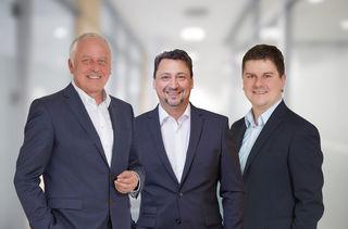 Der neue Vorstand der Volksbank: Claus Preiss, Vorsitzender des Vorstands, Marco Feit, Mitglied des Vorstands, und Hans-Jörg Meier, Mitglied des Vorstands (v. l.)