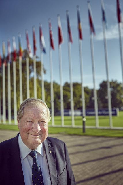 Hans Christian Krüger an seiner alten Wirkungsstätte: Er war Generalsekretär der Menschenrechtskommission sowie stellvertretender Generalsekretär des Europarates.