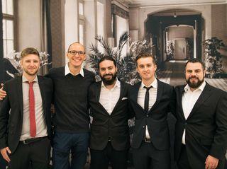 Daniel Gerhard (von links), Kamil Michna, Emre Özlü, Frank König und Sebastian Lermen erlebten eine gelungene Premiere.