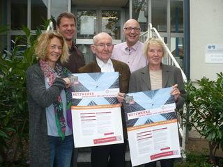 Sie stellten die Aktionswoche vor: Tanja Stahlhoff (SKM Ortenau), Mario Herrmann, Dr. Hannes Schadeberg (Förderverein Pflasterstube), Andreas Hillebrandt, Loretta Bös ( v. l.).