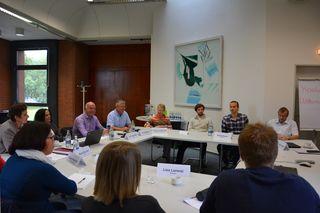 Teilnehmer des Workshops, darunter Professoren, Mitarbeiter, Führungskräfte und Studierende der Hochschule für öffentliche Verwaltung Kehl