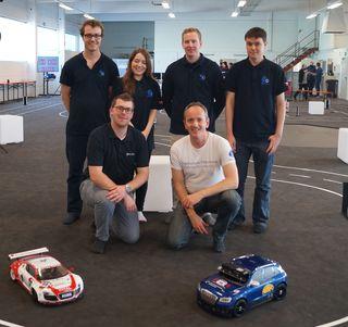 Vorne von links: Benjamin Leibinger, Prof. Klaus Dorer, hinten von links: Rico Schillings, Antonia Uhlmann, Lucas Hochberger, Jens Fischer