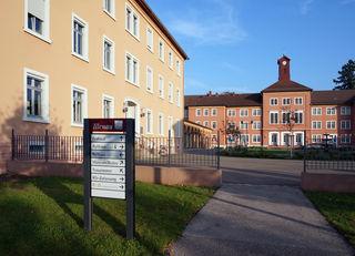 Die Illenau-Anlage, heute Sitz von Teilen der Stadtverwaltung