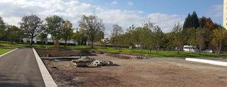 Noch sieht man nicht viel, aber an dieser Stelle wird das römische Streifenhaus in Lahr entstehen.