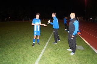 Oberacherns Trainer Stephan Geppert war nur mit der ersten Halbzeit zufrieden.