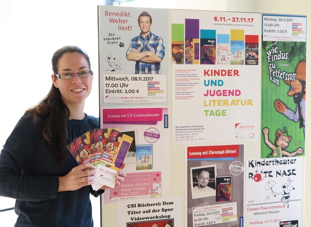 Patrivia Buhle organisiert für die Stadtbibliothek die Kinder- und Jugendliteraturtage.