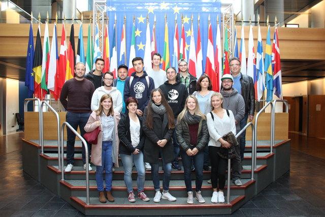 : Der Rheinauer Jugendgemeinderat besuchte bei seiner Bildungsfahrt das Europäische Parlament