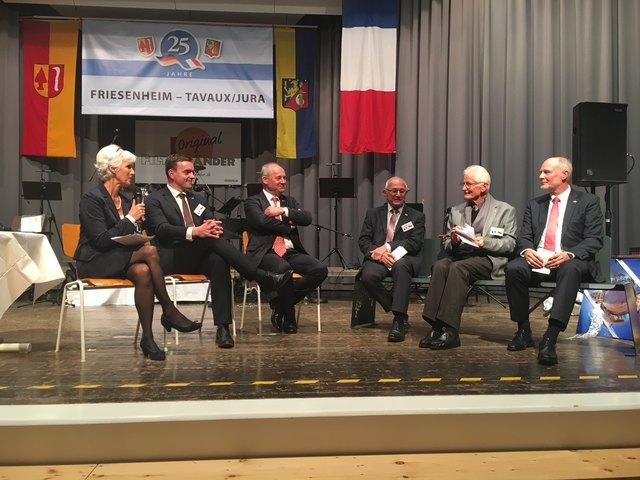 Seit 24 Jahren besteht die Freundschaft zwischen Friesenheim und Tavaux. Jetzt wurde in Friesenheim gefeiert.