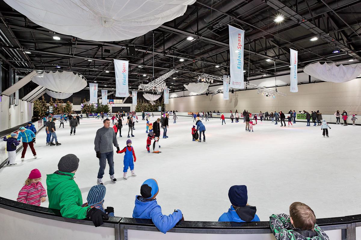 Die Eislaufhalle ist Teil der neuen Freizeit-Arena.