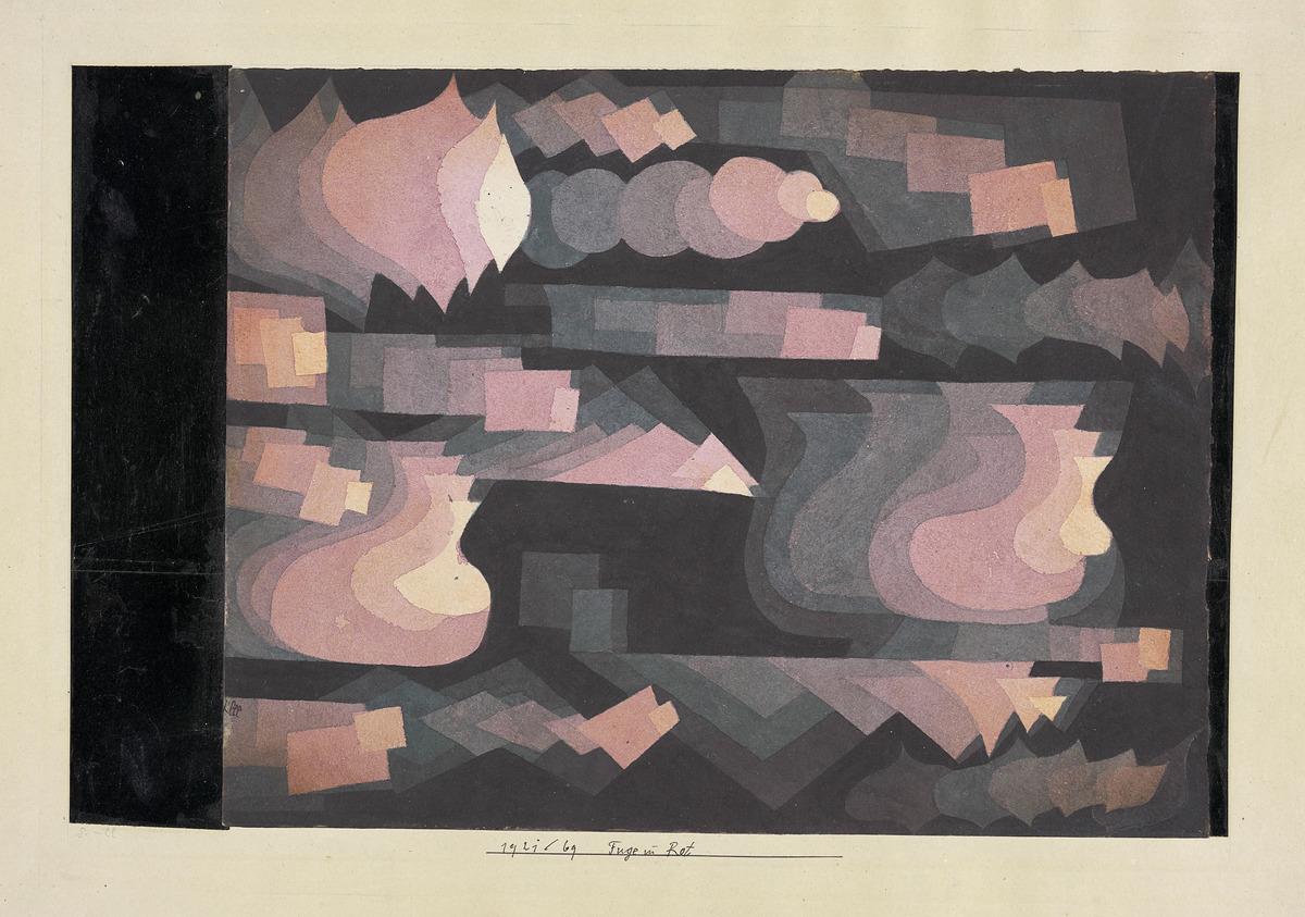 """Paul Klee, """"Fuge in Rot"""", Privatbesitz Schweiz, Depositum im Zentrum Paul Klee, Bern"""