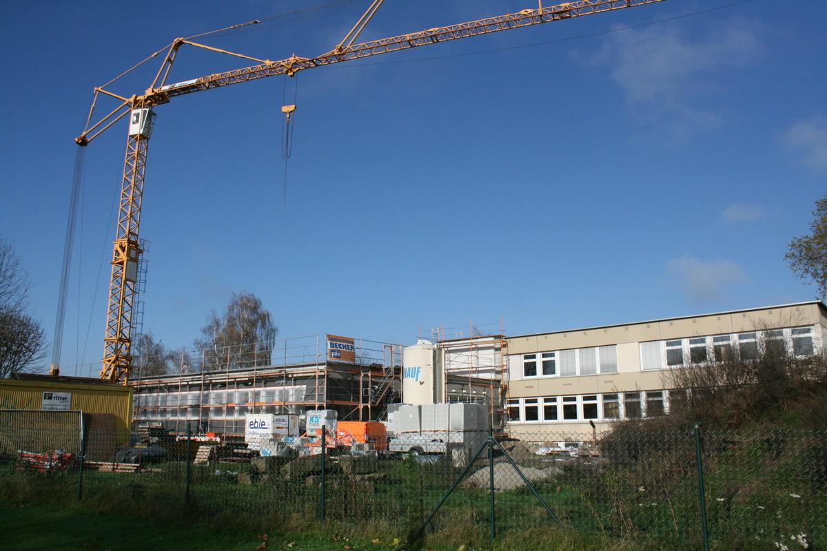 Die Arbeiten am Neubau der Moscherosch-Schule in Willstätt sind in den letzten Zügen.