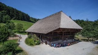 Der Falkenhof macht auf dem Gelände des Freilichtmuseums einen   imposanten Eindruck.