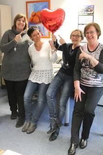 Vanessa Männle (v. l.), Mirella Keil, Ingrid Sigg und Monika Müller von der Verwaltung sind ein echtes Kleeblatt des Glücks und ohne Frage das Herz der Offenburger Geschäftsstelle.