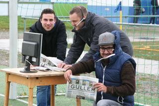Die DTP-Sportredaktion ist immer am Ball. Mit Unterstützung zahlreicher freier Mitarbeiter sind unter anderen Max Maassen (von links), Marco Götz und Daniel Ehrhardt immer hautnah am Geschehen.