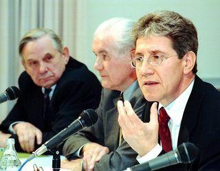 Lahrer Oberbürgermeister (von links): Philipp Brucker, Werner Dietz und Wolfgang G. Müller