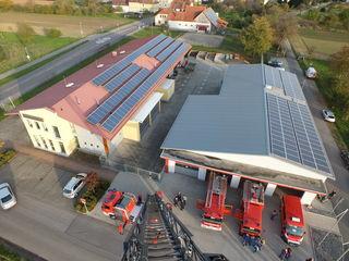 Feuerwehrgerätehaus und Bauhof waren vor 20 Jahren noch nicht gebaut.