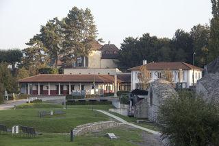 Blick vom Theater zum Römerhaus