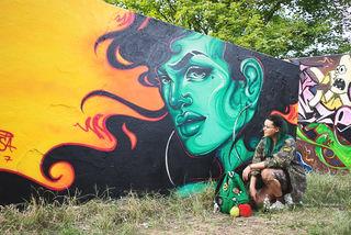 """Auch beim diesjährigen Offenburger """"Double Trouble Jam"""" am Gifiz-Skatepark zeigte Emesa im Juli ihr Können."""