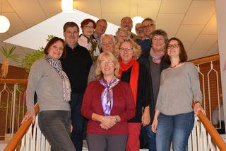 Zusammentreffen von Studierenden der Hochschule Kehl und Gästeführern aus Kehl, Straßburg und Freiburg