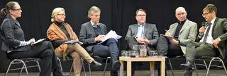 Alles digital oder was? Frédérique Kerker, Wolfgang Kraft, Hans-Peter Kopp und Ralf Lankau