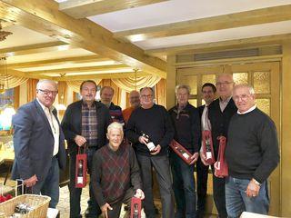 Die aktiven Kappelrodecker Brünnelesbauer, hier mit Bürgermeister Stefan Hattenbach (Dritter von rechts), haben ein großes Arbeitspensum geleistet.