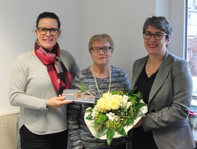 (v.l.) Isabel Obleser, Edeltraud Bruder, Heike Roll