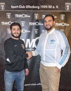 Narek Sermanoukian freut sich auf Rückkehrer Serkan Nezirov (rechts), der im Sommer den SC Offenburg trainiert.