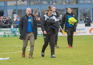 Trainer Sascha Glass und Co-Trainerin Mirella Junker kamen vom Nord-Zweitligisten VfL Wolfsburg II zum SC Sand.