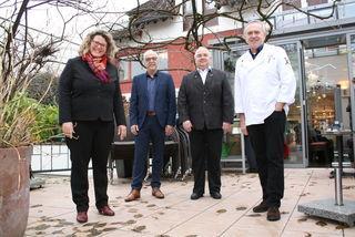 Halten Rückschau und geben einen Ausblick: Fiona Härtel, Toni Vetrano, Joachim Parthon und Thomas Dreher.